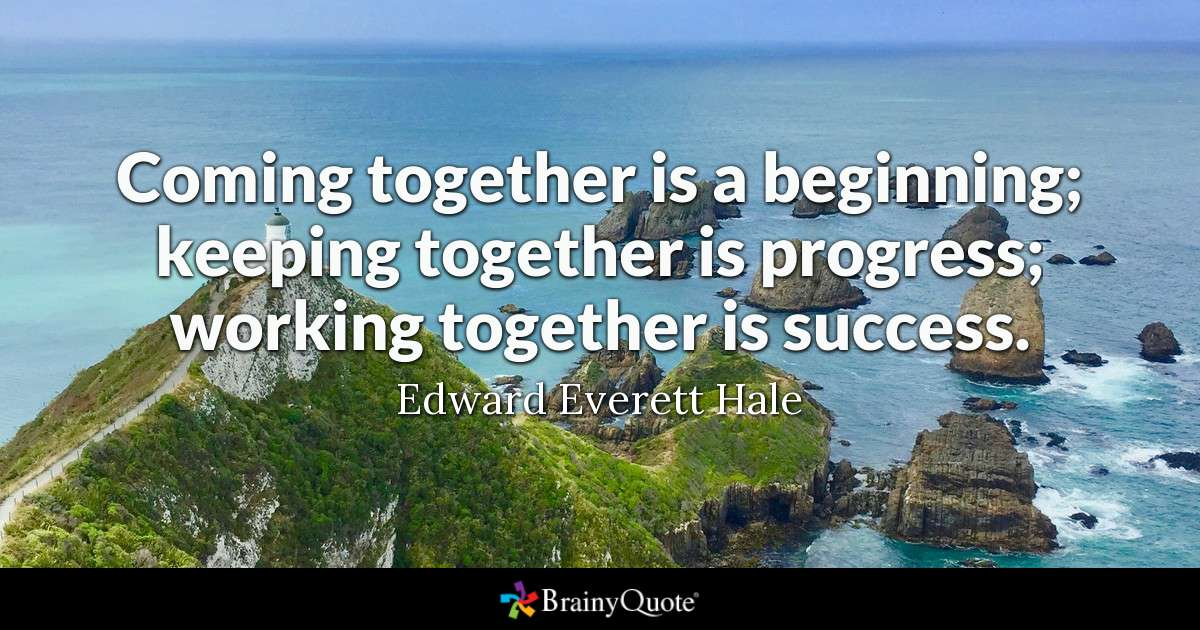 Beach quote - coming together